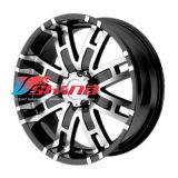 9x20 8x165 ET18 D125 HE835 Black/Machined