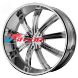 9,5x24 6x135/6x139,7 ET35 D78,1 KM672 Black/Machined