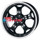 10,5x20 5x120 ET35 D72,6 Boost Diamant black with stainless steel lip